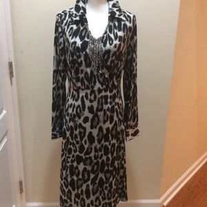 Lane Bryant Black & White Leopard Print Dress Size